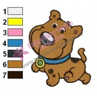 Baby Scooby Doo Embroidery Design