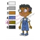 Baljeet Phineas and Ferb Embroidery Design 02