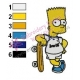 Bart Simpson Real Madrid Embroidery Design