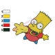 Bart Simpson Simpsons Embroidery