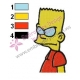 Bart Simpson is Angry Embroidery Design