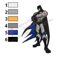 Batman Embroidery Design 08
