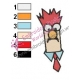 Beaker Muppets Embroidery Design