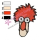 Beaker Muppets Face Embroidery Design 02