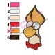 Beaker Muppets Face Embroidery Design 03