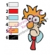 Beaker Muppets Face Embroidery Design 04