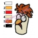 Beaker Muppets Face Embroidery Design