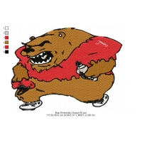 Bear Embroidery Design 5