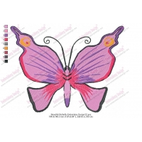 Beautiful Butterfly Embroidery Design 02