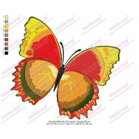 Beautiful Butterfly Embroidery Design 03