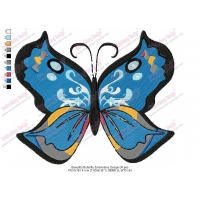 Beautiful Butterfly Embroidery Design 04