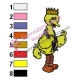 Big Bird Embroidery Design