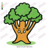 Big Tree with Green Leaf Embroidery Design