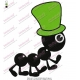 Black Ant in Green Hat Embroidery Design