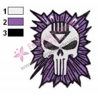 Black Lantern Punisher Embroidery Design