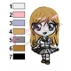 Bleach Chibi Orihime Embroidery Design