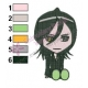Bleach Chibi Rukia Embroidery Design 02