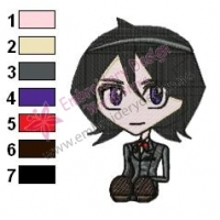 Bleach Chibi Rukia Embroidery Design