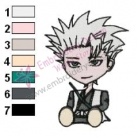 Bleach Chibi Toshiro Embroidery Design