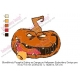 Bloodthirsty Pumpkin Eating an Orange on Halloween Embroidery Design