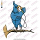 Blue Bird Singing Embroidery Design