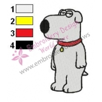 Brian Family Guy Embroidery Design 05