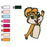 Brittany Miller The Chipmunks Embroidery Design 02