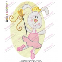 Bunny Queen Witch Embroidery Design