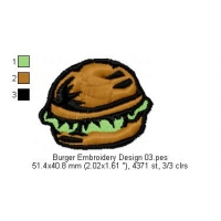 Burger Embroidery Design 03