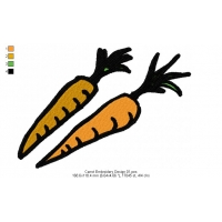 Carrot Embroidery Design 01