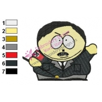 Cartman as Adolf Hitler South Park Embroidery Design