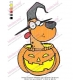 Cartoon Character Halloween Dog Embroidery Design