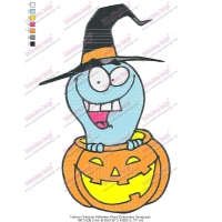 Cartoon Character Halloween Ghost Embroidery Design