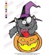 Cartoon Character Halloween Werewolf Embroidery Design
