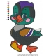 Cartoon Cute Baby Duck Embroidery Design