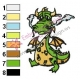 Cartoon Dragon Father Embroidery Design