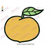 Cartoon Fruit Apricot Embroidery Design 02