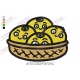 Cartoon Fruit in Basket Embroidery Design
