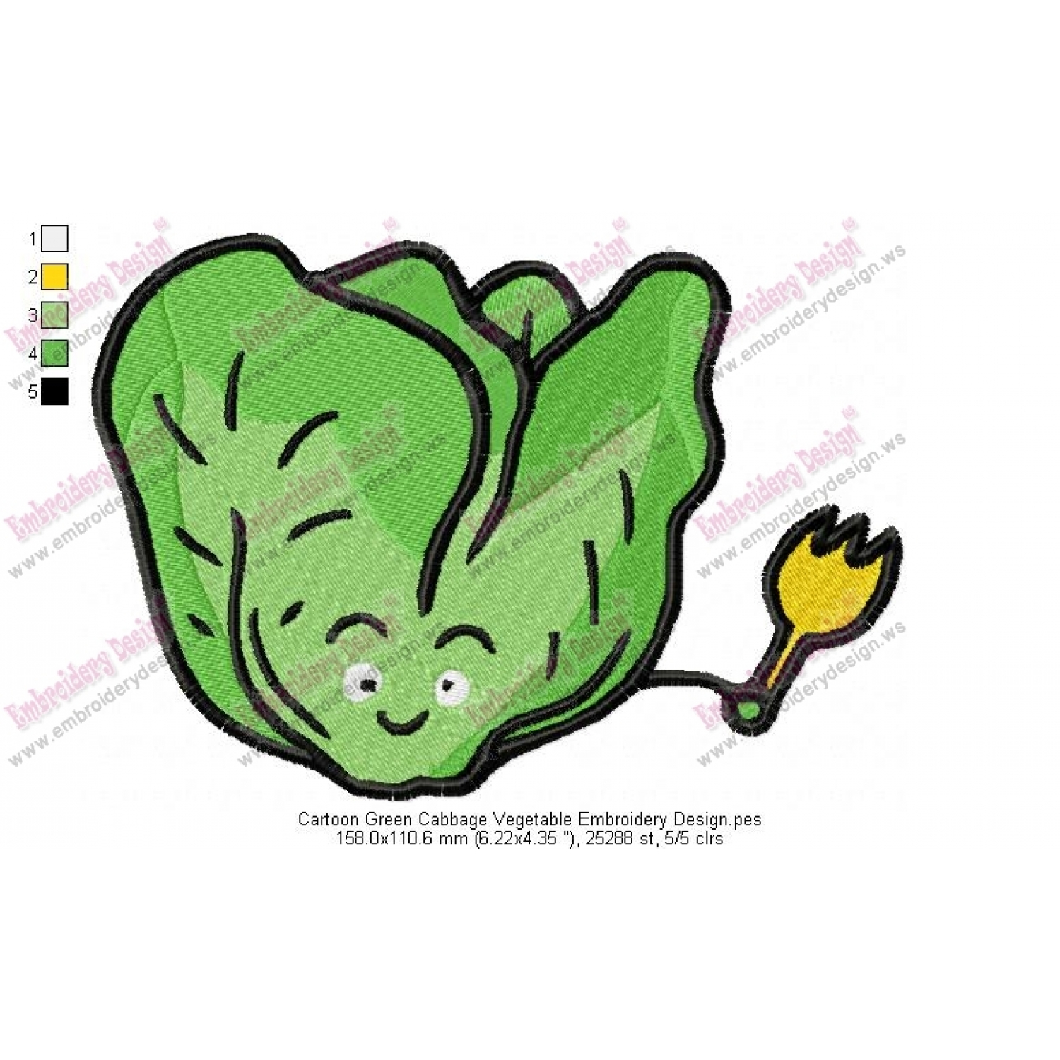 Vegetables Embroidery Designs