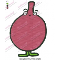 Cartoon Onions Standing Embroidery Design