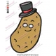 Cartoon Potato Vegetable Embroidery Design