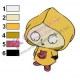 Cartoon Raincoat Stewie Family Guy Embroidery Design