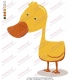 Cartoon Yellow Duck Embroidery Design