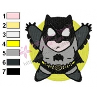 Chibi Batman Embroidery Design 03