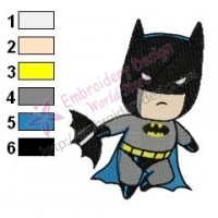 Chibi Batman Embroidery Design