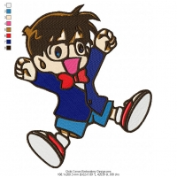 Chibi Conan Embroidery Design