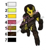 Chibi Extremis Iron Man Embroidery Design