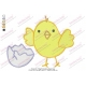 Chick out of Egg Embroidery Design