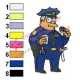 Chief Clancy Wiggum Simpsons Embroidery Design