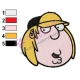 Chris Griffin Face Family Guy Embroidery Design